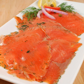 norwegian gravlax smoked salmon trout sliced 1S 2461